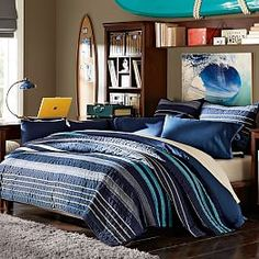 Laid Back Stripes Quilt + Sham