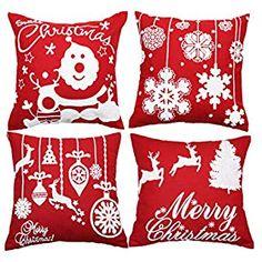 AM/_ Reindeer Deer Silhouette Sketch Cushion Cover Pillow Case Sofa Car Decor Mys