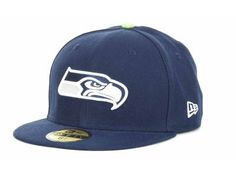 Buy a Seattle Seahawks On-Field Fitted Hat at SportsFeverCal.com Today and Get Free Shipping on Orders of $75 or More!
