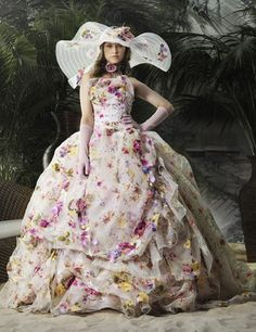 The gown... the hat... ♥ Couture Wedding Dress by Stella de Libero