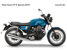 The Moto Guzzi III Special comes closest to the spirit of the original model due to its classical styling, chrome parts and bright graphics. Freight and PDI included. Moto Guzzi Motorcycles, Street Motorcycles, Street Bikes, Scrambler, V9 Roamer, Moto Guzzi V7 Stone, Guzzi V9, Ducati Monster 1200, Motorcycle Manufacturers