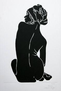 "Saatchi Art Artist A Weyer; Printmaking, ""Helene - Limited Edition 3 of 10"" #art"