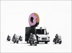 Banksy - Strawberry Donut