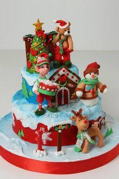 Nutcracker Christmas Cakes No Bake