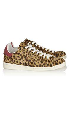 Isabel Marant Étoile Bart Leopard-Print Calf Hair Sneakers - Isabel Marant