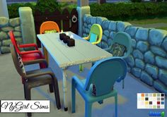 NY Girl Sims: Plastic Dining Chair with Pillow Converted to TS3 toTS4 • Sims 4 Downloads