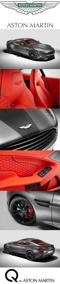 The exceptional Vanquish Coupe unveiled at Beijing takes an extreme sport theme which displays its advanced material construction, boasting an eye-catching stripe of exposed carbon fibre running from nose to tail. The exterior is energised by a contrasting Vivid Red interior, with carbon fibre seen on the facia and gearshift paddles. [www.ballychohan.com] #ballychohan #bally #chohan