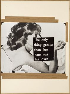 Astrid Klein, The only thing greater than her hate was his love, 1980
