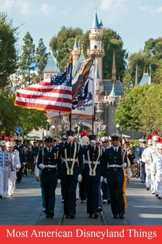 disneyland flag retreat ceremony veterans day 2016