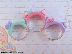 Hey, I found this really awesome Etsy listing at https://www.etsy.com/listing/152984496/pastel-kawaii-cat-ear-rings