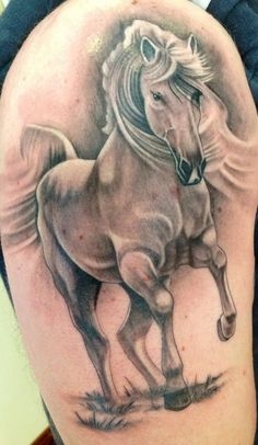 111-40 This is another one of our favorite simple horse tattoo designs.