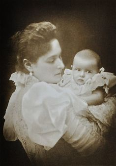 The Empress Alexandra Feodorovna and her second-eldest daughter; the Grand Duchess Tatiana