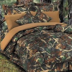 camo bedding | Oak Camo Bedding Ensemble at Rocky Mountain Cabin Decor