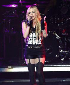AVRIL LAVIGNE Performs at Concert in Las Vegas