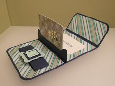 handmade card; Fathers Day gift card holder ... pop-up for when open ... like it!
