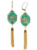 Emerald Chinese Lantern Earrings at PLASTICLAND