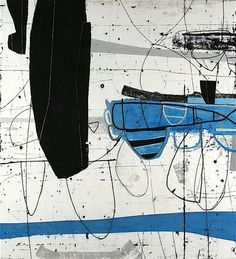 "erik gonzales ""rudder"" mixed media on canvas 44x48 inches"