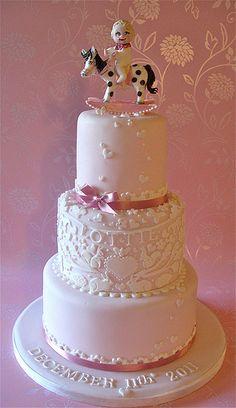 A christening cake for Lottie