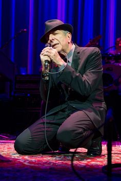 Leonard Cohen performing in 2012.