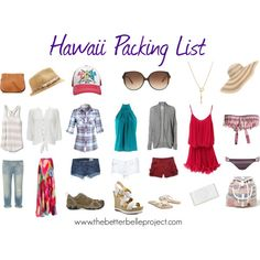 Hawaii Packing List - Items by thebetterbelle, via Polyvore