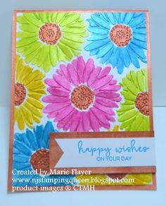 NJ Stamping Queen: Watercolored Daisies