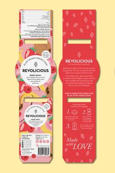 Revolicious Berry Smoothie Bowl Packaging … – Design is art Takeaway Packaging, Salad Packaging, Dessert Packaging, Ice Cream Packaging, Food Packaging Design, Bottle Packaging, Packaging Design Inspiration, Brand Packaging, Smoothie Bowl