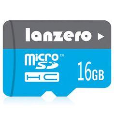 Lanzero 16G Class 10 High-speed Micro SDHC SD TF Card Memory Card