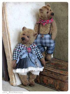 Teddy bear Duglas or Dora 19 cm OOAK