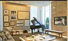 Debora Aguiar - a piano in the living room, love it!
