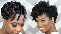 How To Do a Braid-Out on Tapered Natural Hair [Video] - https://blackhairinformation.com/video-gallery/braid-tapered-natural-hair/