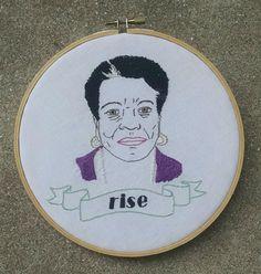 Embroidered Maya Angelou Portrait