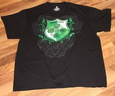 8fc32febe931 Ireland Coat of Arms T Shirt Black XL Size 46-48 St. Patrick Day