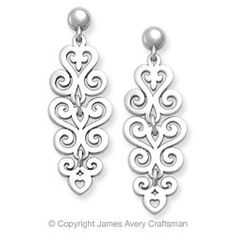 Spanish Dangle Ear Posts from James Avery
