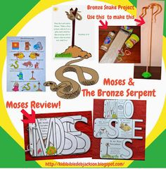 Moses: The Bronze Serpent with a Moses review book & project