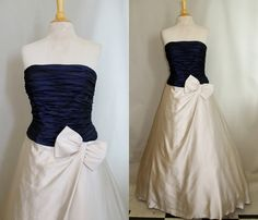 Vicky Tiel Couture Ball Gown Corset Formal Dress by SissysVintage