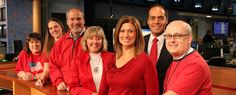 KXLY staffers proudly wearing red on Friday to support our troops.  Pictured left to right: Tiffany Miller,  Shawna Williamson, Bill Long, Diane Cortez, Robyn Nance, Derek Deis and David Lee.