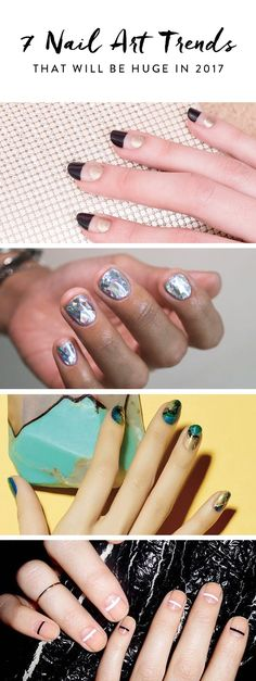 To save you some time before your next mani, we did a little research on the latest chic nail art trends. Here are the seven looks we're most excited about right now.