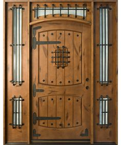Knotty Alder Solid Wood Front Entry Door - Single with 2 Sidelites & Knotty Alder Front Entry Door 36