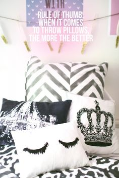 We agree - when it comes to throw pillows - more is more!  http://www.u-la-la.com/u-lala-and-dormify/