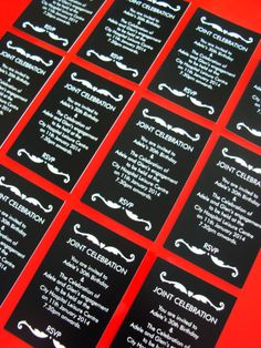Invitations desinged and printed by Minuteman Press, Nottingham