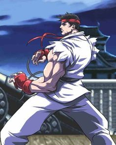 "Ryu (リュウ or 隆, Ryū ? ) is the protagonist and main character of the Street Fighter series. Ryu has made an appearance in every Street Fighter game, as well as in almost every crossover fighting game with Capcom characters in it.  Ryu has arguably become the most famous character in the fighting game genre, starring in early fighting games such as Street Fighter, and started to become popular in Street Fighter II, where he was considered a ""basic"" character. He, along with Mega Man, is…"