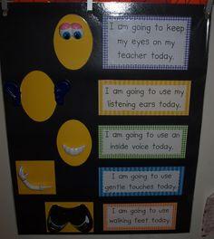 Using Mr. Potato Head for Classroom Rules Visual... SO COOL!