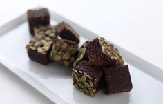 RIGHT NOW !!! PLEASE !!!!!!!!!  Dark chocolate and pumpkin seed brownies by Adam Stokes