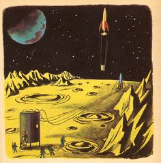 Exploring Space, illustrated by Tibor Gergely / grickily, via Flickr