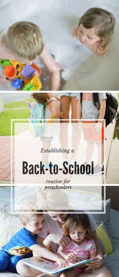 Establishing a back-to-school routine for preschoolers- #Johnsons #HeadToToeBaby #ad