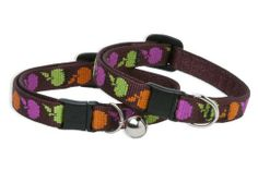 Lupine Cat Safety Collar with bell in Candy Apples. Features a breakaway clasp that releases at 5lbs. of pressure to keep your cat safe! Available at Fancy Paws, LLC!