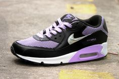 size 40 efa36 f657b Nike Air Max 90 Femme Noir Violet Argent Vendre21.9013