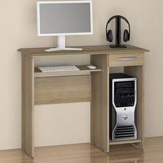 Mesa Para Computador Notável, 1 Gaveta E Corrediças Metálicas - Siena