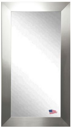 American Made Rayne Silver Wide x Floor Mirror Add a sophisticated and classic touch to any room with this grand full length silver mirror. Create a All Modern, Modern Mirror Wall, Lighted Bathroom Mirror, Tall Mirror, Modern, Contemporary Mirror, Lighting Fixtures, Chandelier, Silver Mirrors