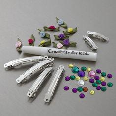 Creativity For Kids Rhinestone & Rose Barrettes Mini Kit